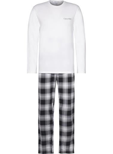 Calvin Klein Pijama Takım Beyaz